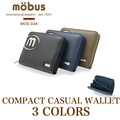 Compact Round Fastener Casual Wallet