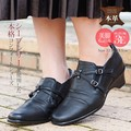 Genuine Leather Light-Weight Comfort Ladies Wide Casual Slip-Proof
