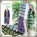 Multi-Color Large Format Checkered Stole