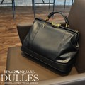 Carbon Leather Cow Leather Small Dulles Bag SQUARE