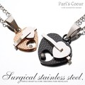 Stainless Triple Heart Necklace Set set