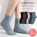 Crew Socks Socks 3 Pairs Set Ladies Socks Plain Casual
