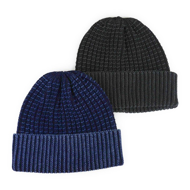 08f7cc4cfc0 Import Indigo Dyeing Waffle Cotton Knitted Watch Cap Young Hats   Cap from  Japan at wholesale prices