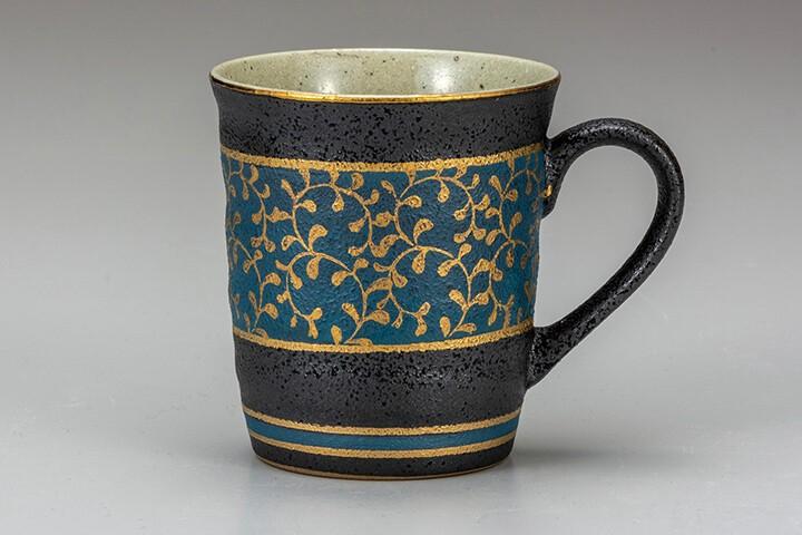 Coffee Mug Arabesque Kutani Yaki ware