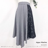 Checkered Switching Regular Skirt