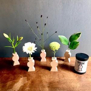 Wooden mini flower vase     木製一輪挿し