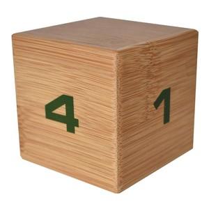 バンブータイムキューブ キューブ型プリセットタイマー 1/2/3/4分とフリー設定 天然竹