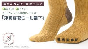 「呼吸するウール靴下」シークレット5本指ソックス/メンズ