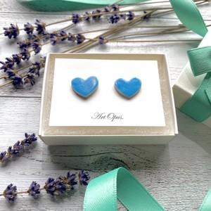 ピアス ArtOpus.(アートオーパス) Heart(ハート)シリーズ ブルー(青)