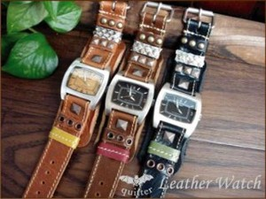 Leather Bracelet Watch Made in Japan