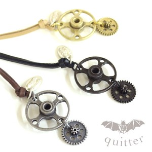 3 Colors Leather Necklace Maid Japan