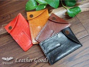 Original Leather Ticket Pocket Card Case Maid Japan