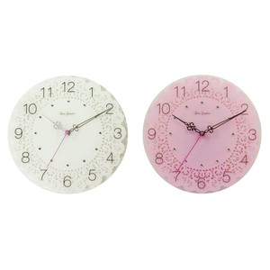 Lace Print 2 Colors Glass Lace Clock