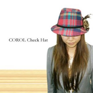 Lady Color Checkered Fur Hat