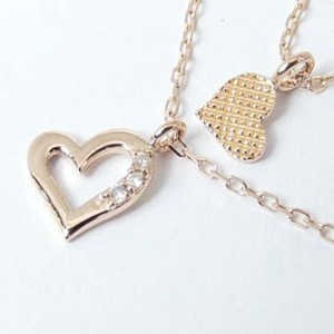 Layering Heart Double Necklace