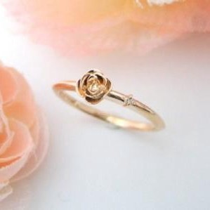Silver 925 Rose Diamond Ring