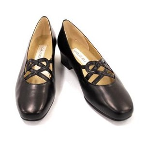 Genuine Leather Heel Casual Pumps Admission