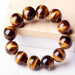 Natural stone Yellow Tiger's Eye Torame Bracelet