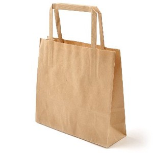 【廉価な紙袋】平紐25チャームバッグ 未晒無地