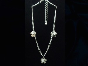 Anklet Rhinestone Attached Flower
