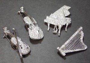 Rhinestone Brooch Music Series