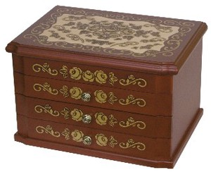 Wooden Jewel Box Rose
