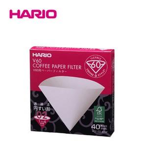 『HARIO』02用 美味しい「円すい形」。 V60用ペーパーフィルター酸素漂白02 40枚入 HARIO(ハリオ)