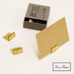 Brass Long Brass Card Stand