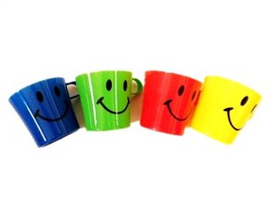 Korokoro Plastic Mug Fine Full Mark Colorful Mug Set