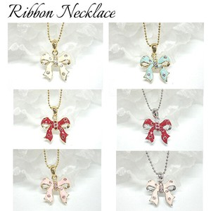 Rhinestone Lovely Colorful Ribbon Necklace