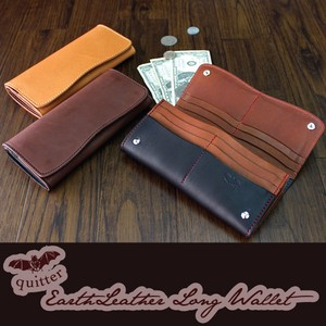 Tochigi Leather Earth Leather Long Wallet Maid Japan