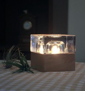 Glass Cube Aroma Lamp