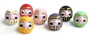 Good Luck Feng Shui Daruma Pink