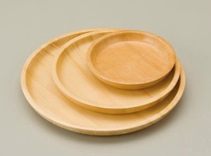 Plain Wood Dish Plate Hors d'oeuvre Plate Divided Plate
