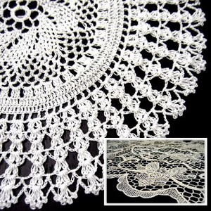 Hand Knitting Crochet Lace Point Lace Series