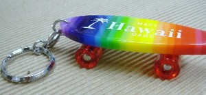 Original Rainbow Skate Board Key Ring