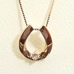 Pink Gold Diamond Necklace