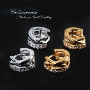 Cubic Zirconia Use Adult Design Pierced Earring
