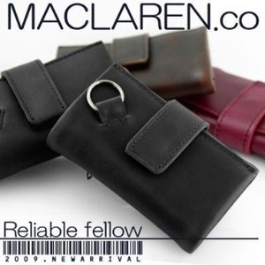 MACLAREN.CO soft Leather Multi Key Case