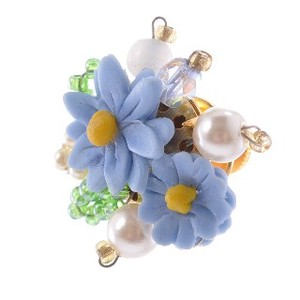Flower Double pin Brooch Tuck pin pin