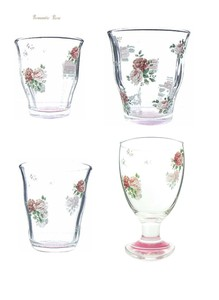 Romantic Rose Glass Tumbler