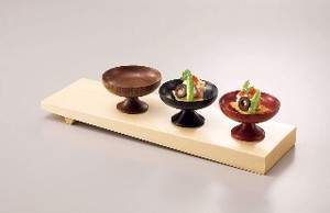 Wooden High Ground Spice Tray Japanese Plates & Utensil Accessory