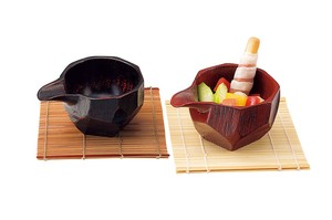 Wooden Lipped Bowl Spice Tray Japanese Plates & Utensil