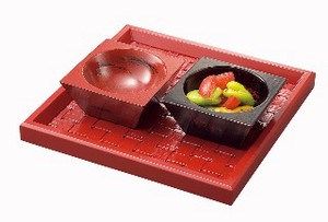Wooden Square Spice Tray Japanese Plates & Utensil