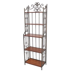 Iron Shelf 5 Steps Iron Frame Display Objects and Ornaments Ornament Open Rack