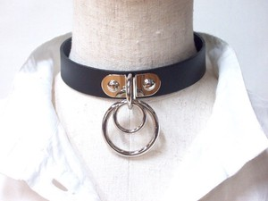 Genuine Leather KS Choker Double Ring