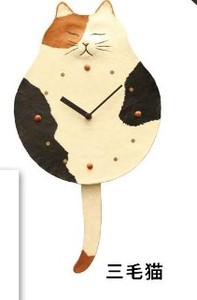 Pendulum Clock/Watch Japanese Paper Cat