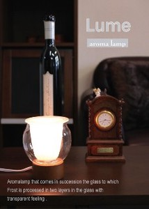 Double Glass Lighting Aroma Lamp