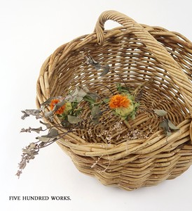 Oval Handle Basket Natural