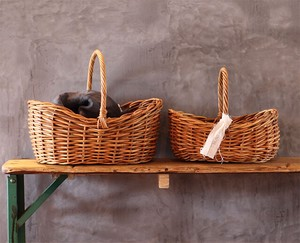 THE AROROG boat Basket Natural Antique